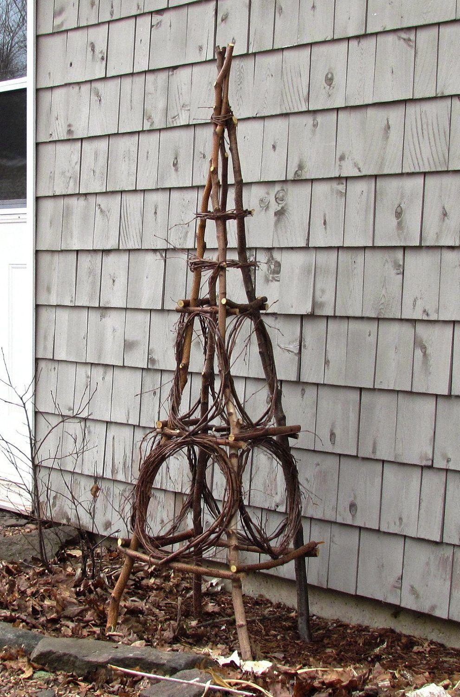 Rustic Birch Garden Obelisk from Eco Friendly Bentwood