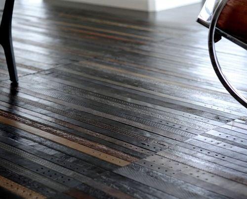 Leather belt floor!
