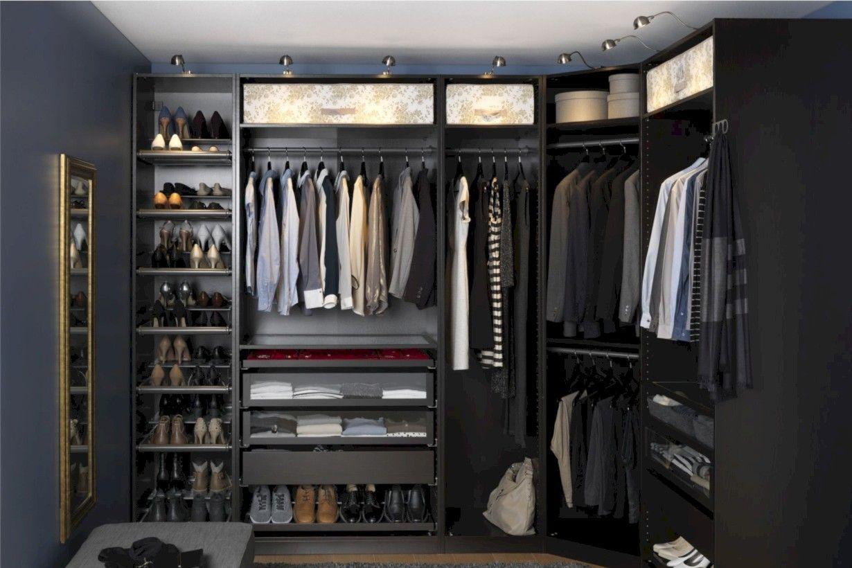 Nice 39 Cute Ideas To Finish Builder Grade Closet Racks Ikea Closet Custom Closet Custom Closet Design