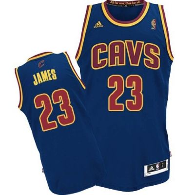 eec497423faa5 LeBron James Authentic In Navy Blue Adidas NBA Cleveland Cavaliers  CavFanatic  23 Men s Jersey