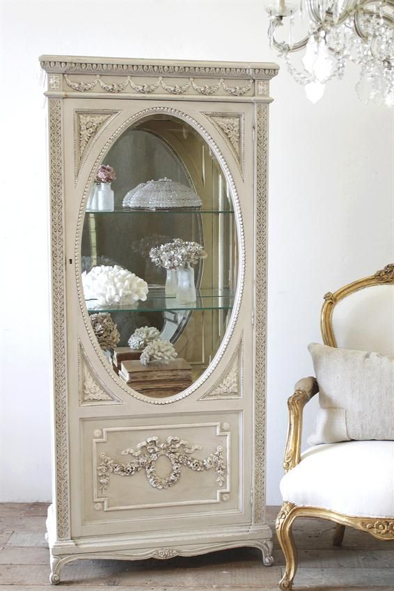 French Rose Swag Display Vitrine from Full Bloom Cottage