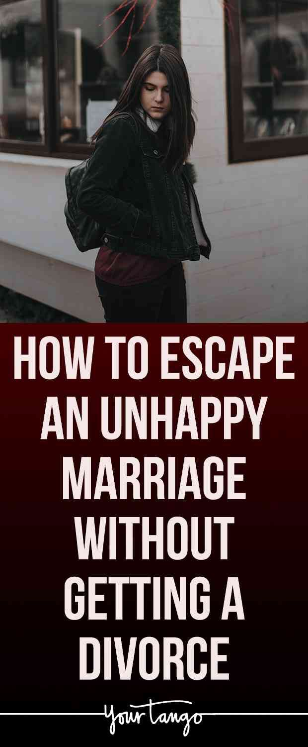 How To Escape An Unhappy Marriage Without Getting A Divorce #divorce