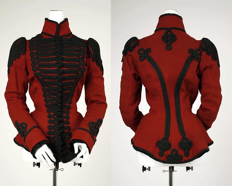fashion red jacket steampunk gothic