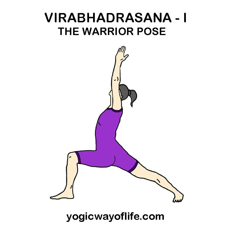 Virabhadrasana I - Warrior Pose   Warrior pose yoga, Warrior pose, Yoga  poses