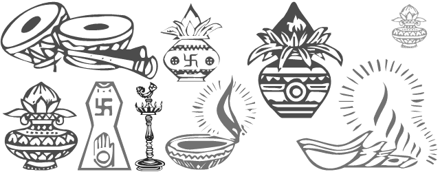 All In One Font Containing Symbols Of Indian Weddings