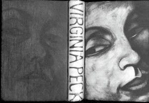 Artist Virginia Peck #bookart #portrait #art  www.artsyshark.com