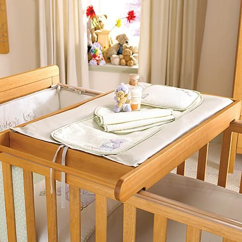 Cot-top changing station. Hehe maybe some day   baby room ...