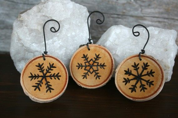 buy small diameter branch from wood scrap yard and cut on chop saw. preserve and decorate!
