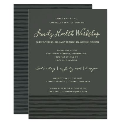 Formal black stripe line workshop seminar event card invitations formal black stripe line workshop seminar event card invitations custom unique diy personalize occasions thecheapjerseys Image collections