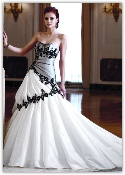 Black and White Casual Wedding Dresses