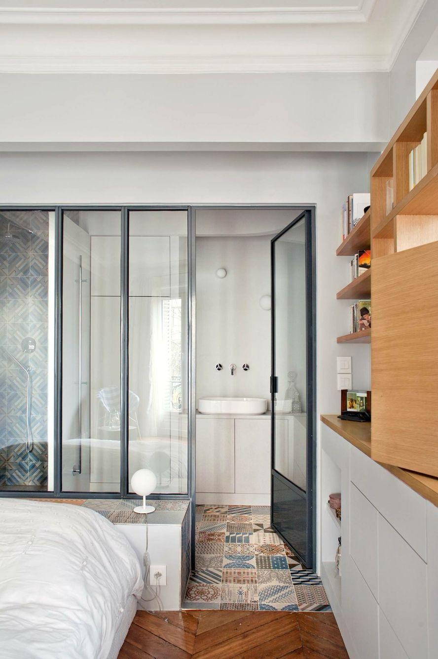 Nos plus belles salles de bains avec verrière  Cloison vitrée