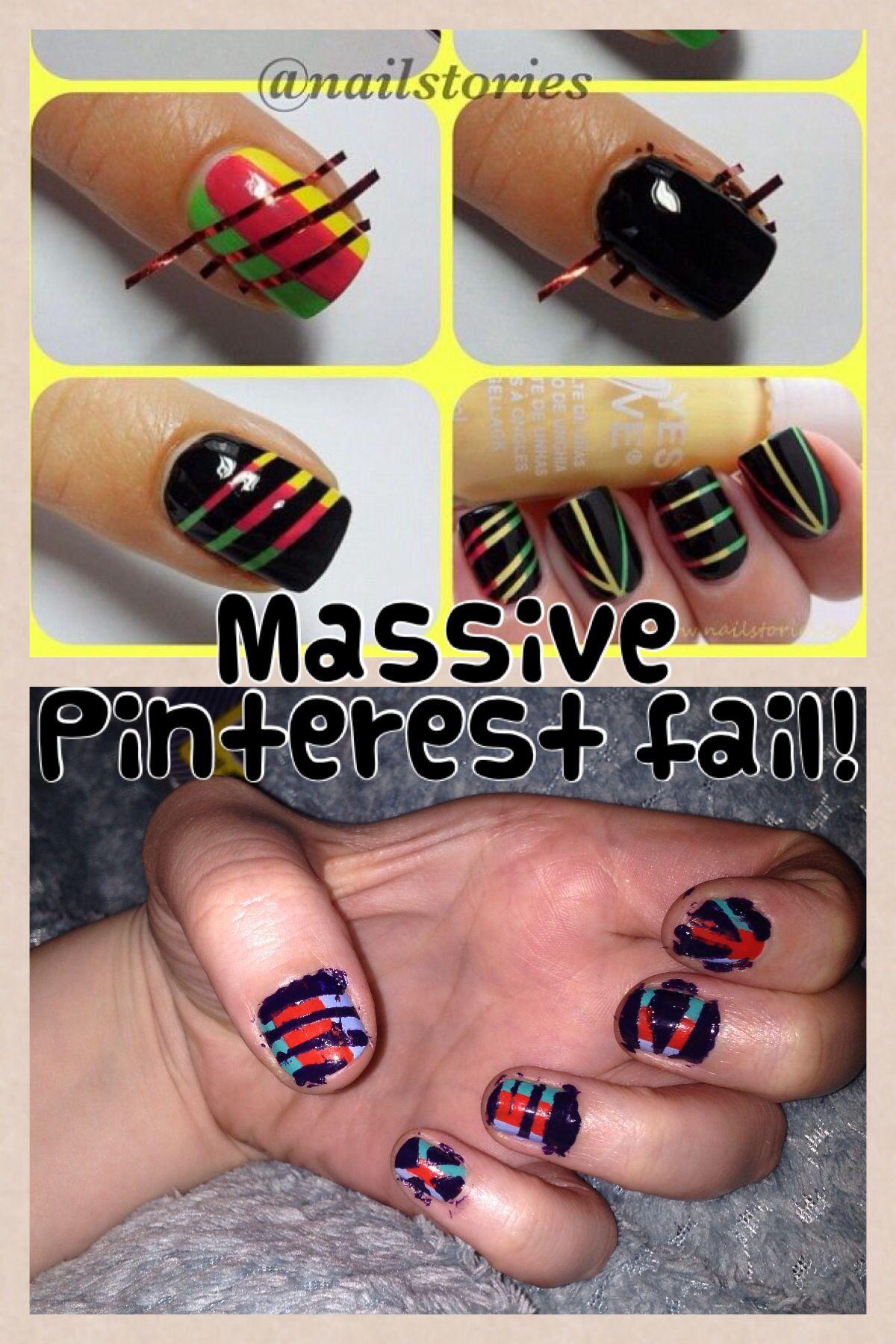 Nail Art Pintrest Fail Lol Pinterest Pinterest Fails Funny