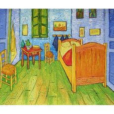Hand Painted Oil Painting Repro On Canvas Impression Bedroom By Van Gogh Wall Decor