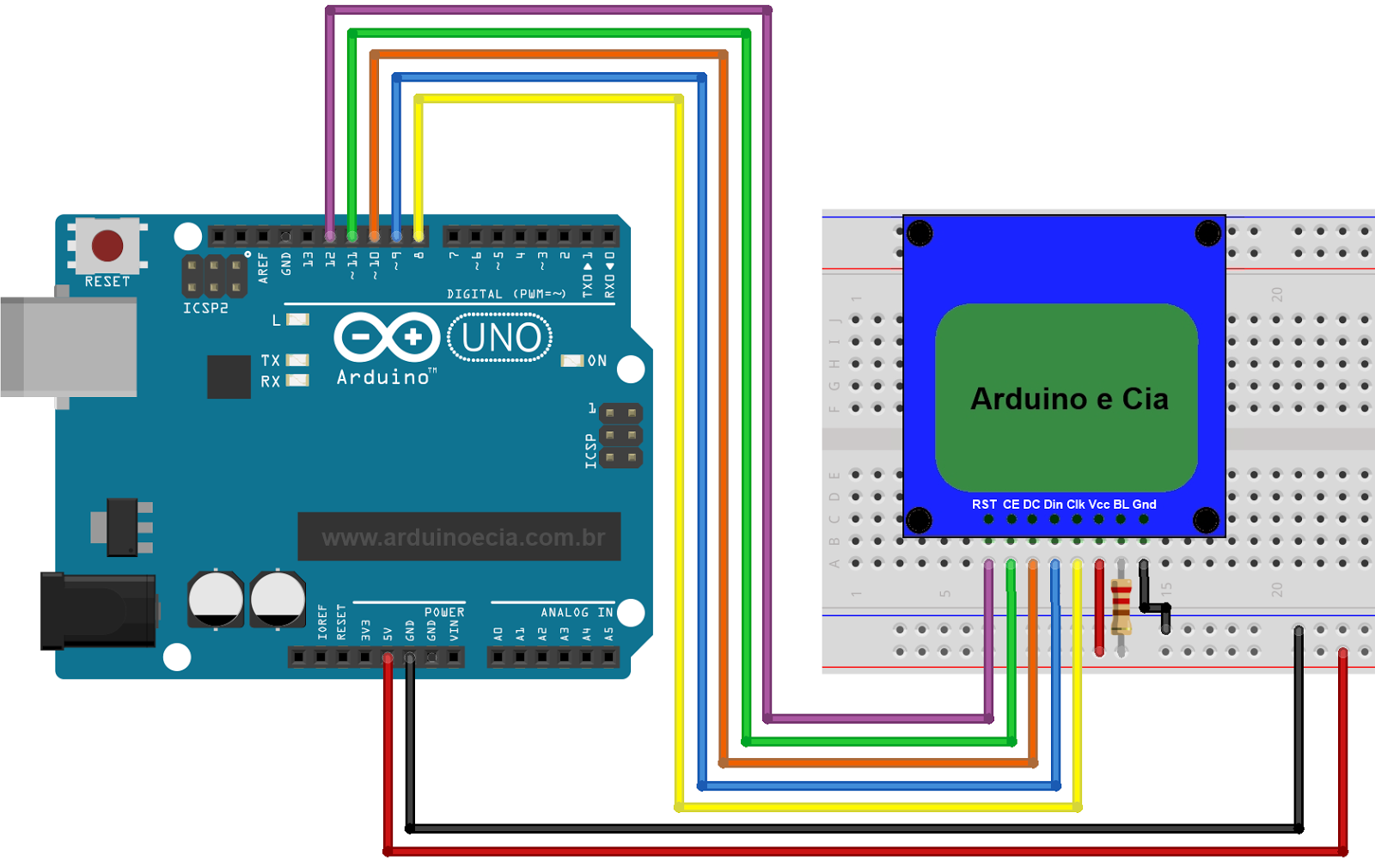 Display Lcd Nokia 5110 Arduino Pinterest And Smokesensor Circuit Combined With Zigbee Wsn Development Board Circuito E Projects Programming Hardware