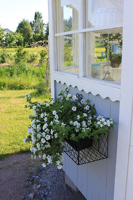 Huvimaja Window Box Window Box Flowers Water Can Decor