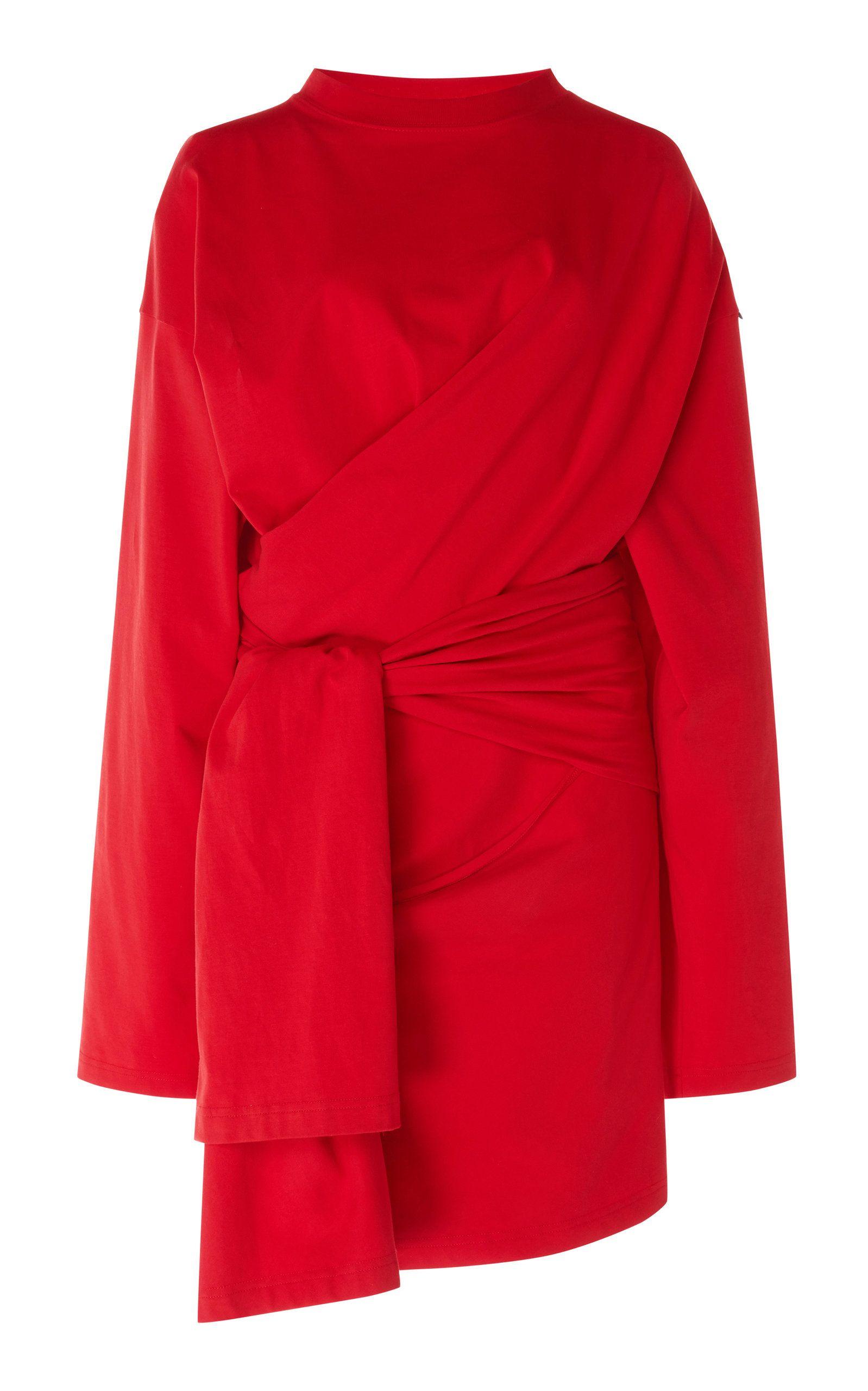 Balenciaga Dynasty Stretch Jersey Wrap Dress Jersey Wrap Dress Wrap Dress Fashion [ 2560 x 1598 Pixel ]