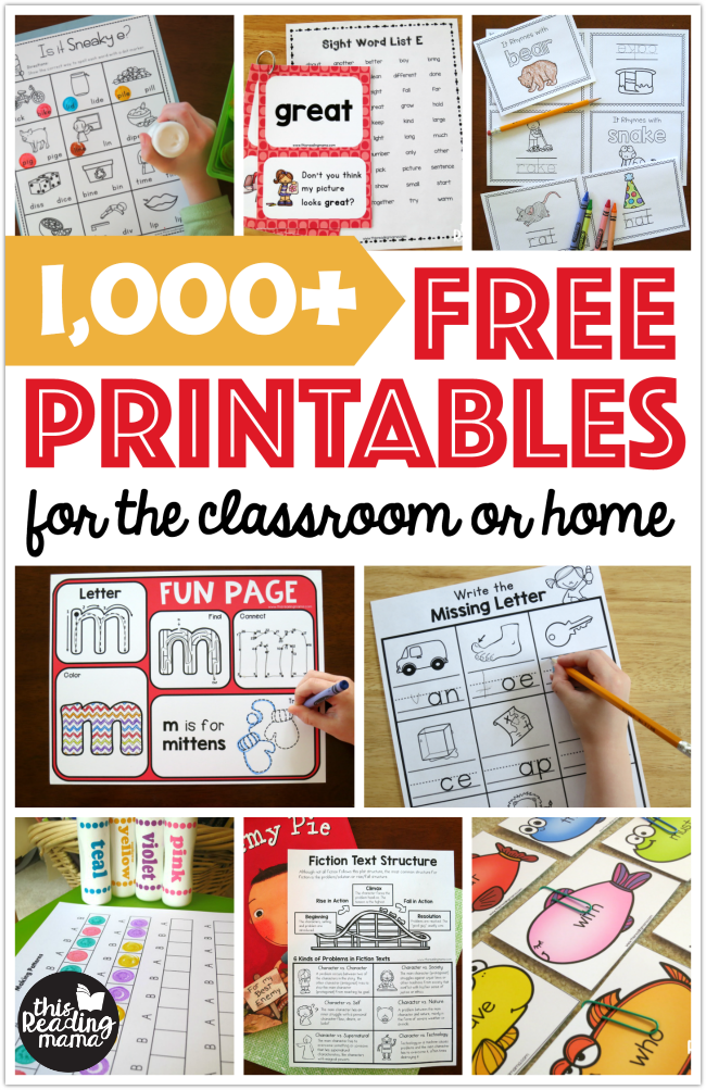 FREE Printables And Learning Activities - This Reading Mama Learning  Printables, Kids Learning Activities, Toddler Learning Activities