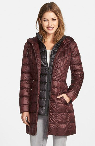 Bernardo Packable Hooded Primaloft 174 Fill Coat With