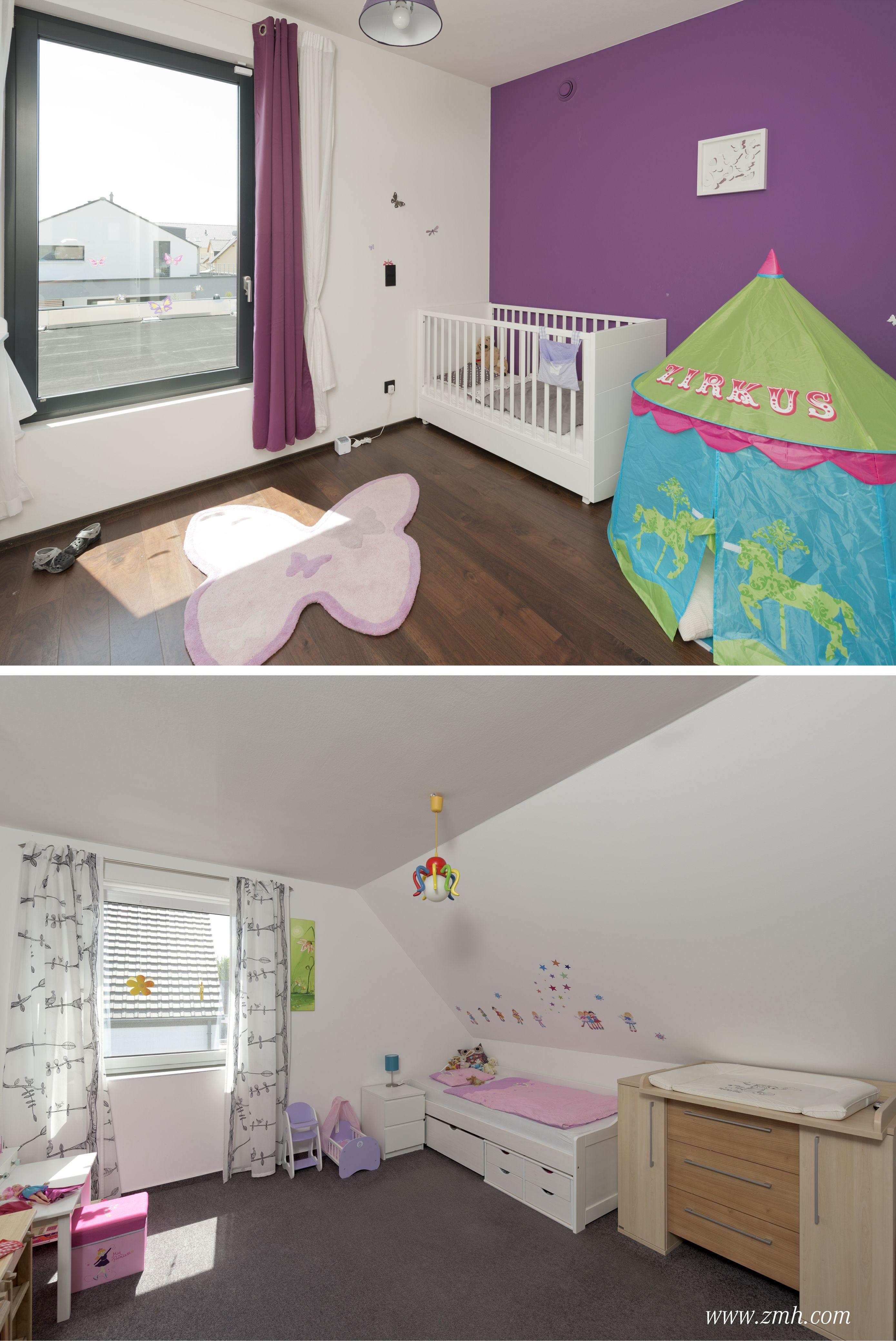 Kinderzimmer Fur Die Kleine Und Grosse Schwester In Lila Und Pink