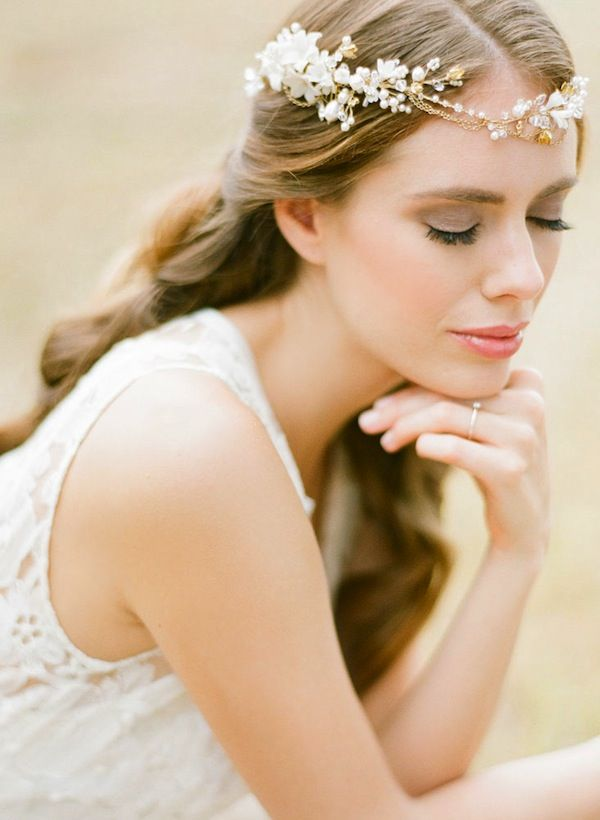 like a sprinkling of gold dust on your big day the reign bohemian wedding headpiece