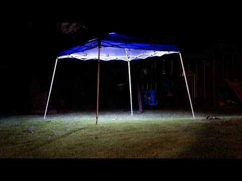 Portable Canopy Tent Lighting With LED Strip Lights Kit