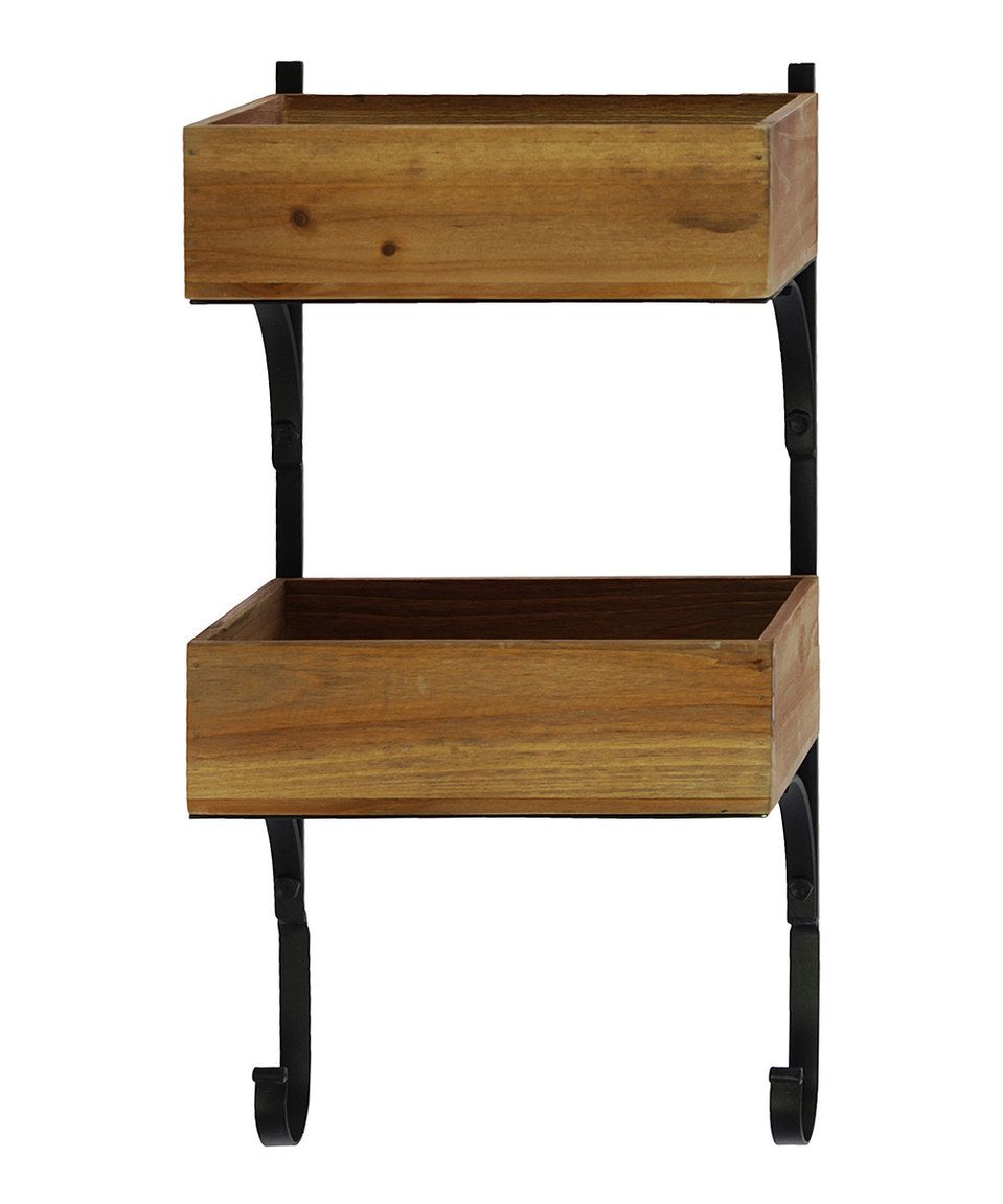 This twotier u twohook wall shelf by urban trends collection is
