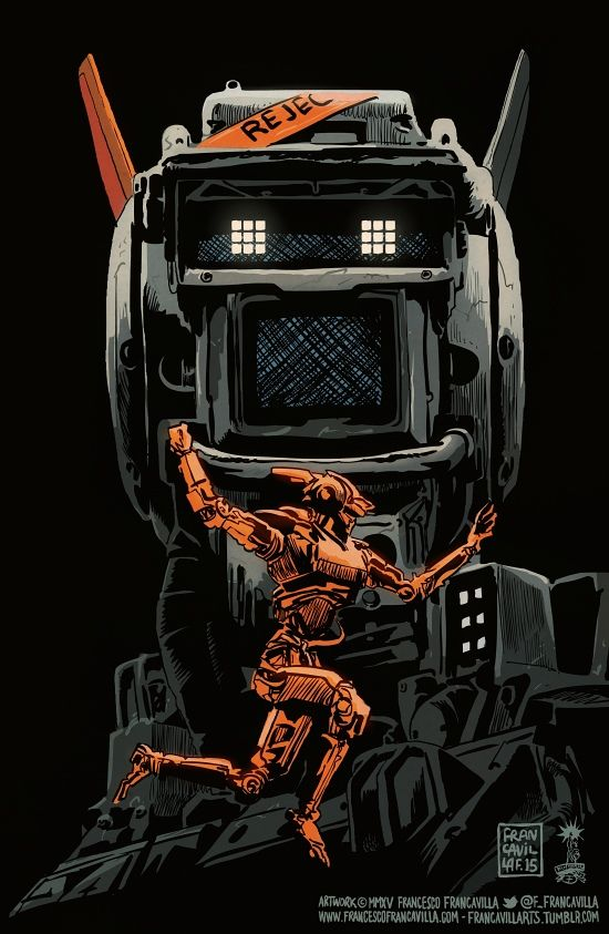 Chappie -- Poster Art by Francesco Francavilla