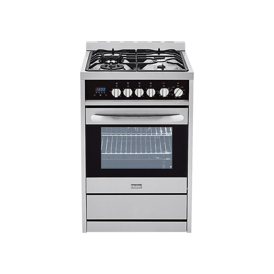 Haier 2 Cu Ft Freestanding Convection Gas Range Stainless Common 24 In 23 4 In Lowes Com Convection Range Freestanding Electric Ranges Iron Grate