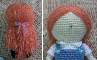 Amigurumi Hair Tutorial : Tutorial to make hair for an amigurumi doll ~ amigurumi crochet