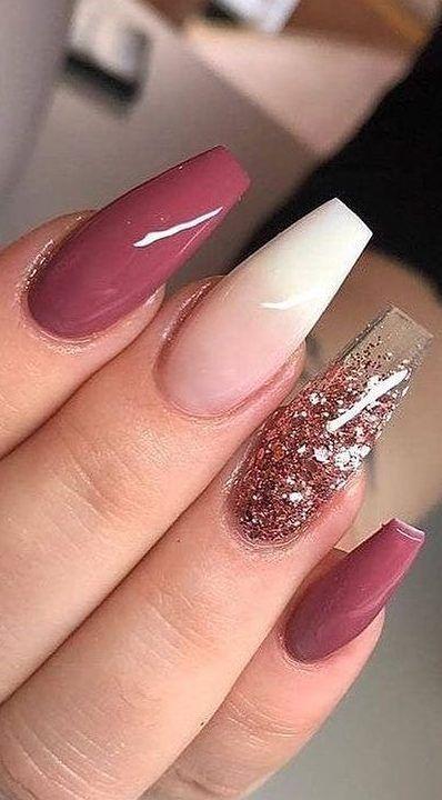 58 Stylish Acrylic Nail Design Ideas Perfect For 2019 Page 27 Of 58 En 2020 Unas Marrones Manicura De Unas Unas De Gel Bonitas
