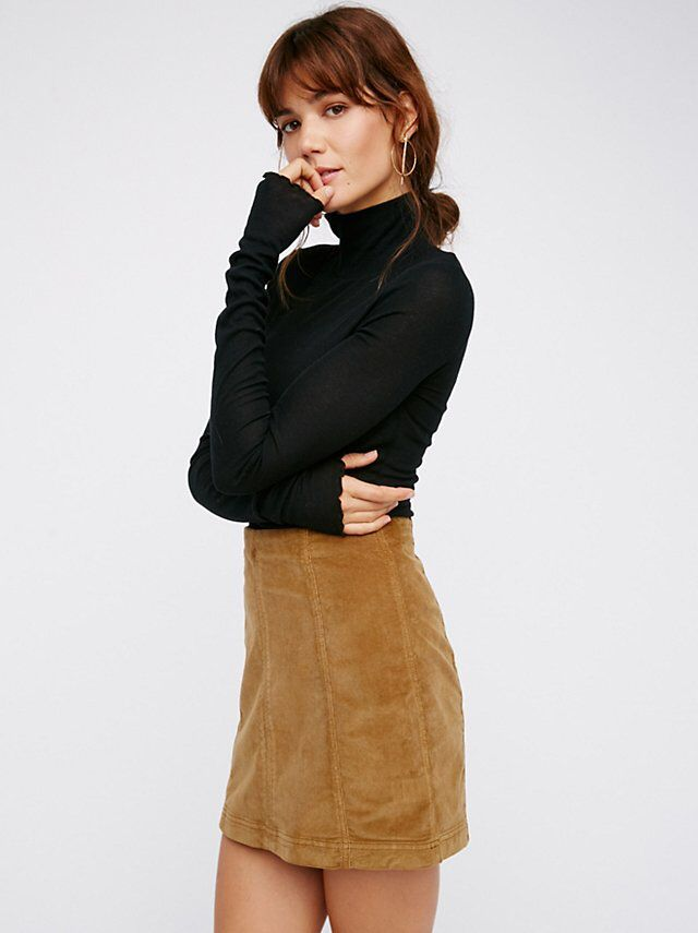edbe6b0a5a Modern Femme Cord Mini | Free people | Mini skirts, Velvet mini ...