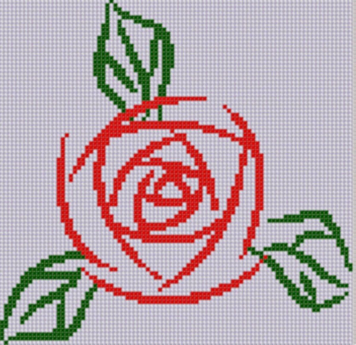 Mother Bee Designs: Rose 4 Cross Stitch Pattern