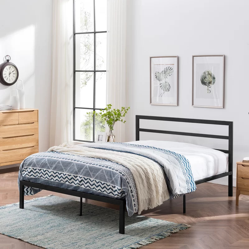Denver Modern Iron Bed Frame With Images Iron Bed Frame Iron