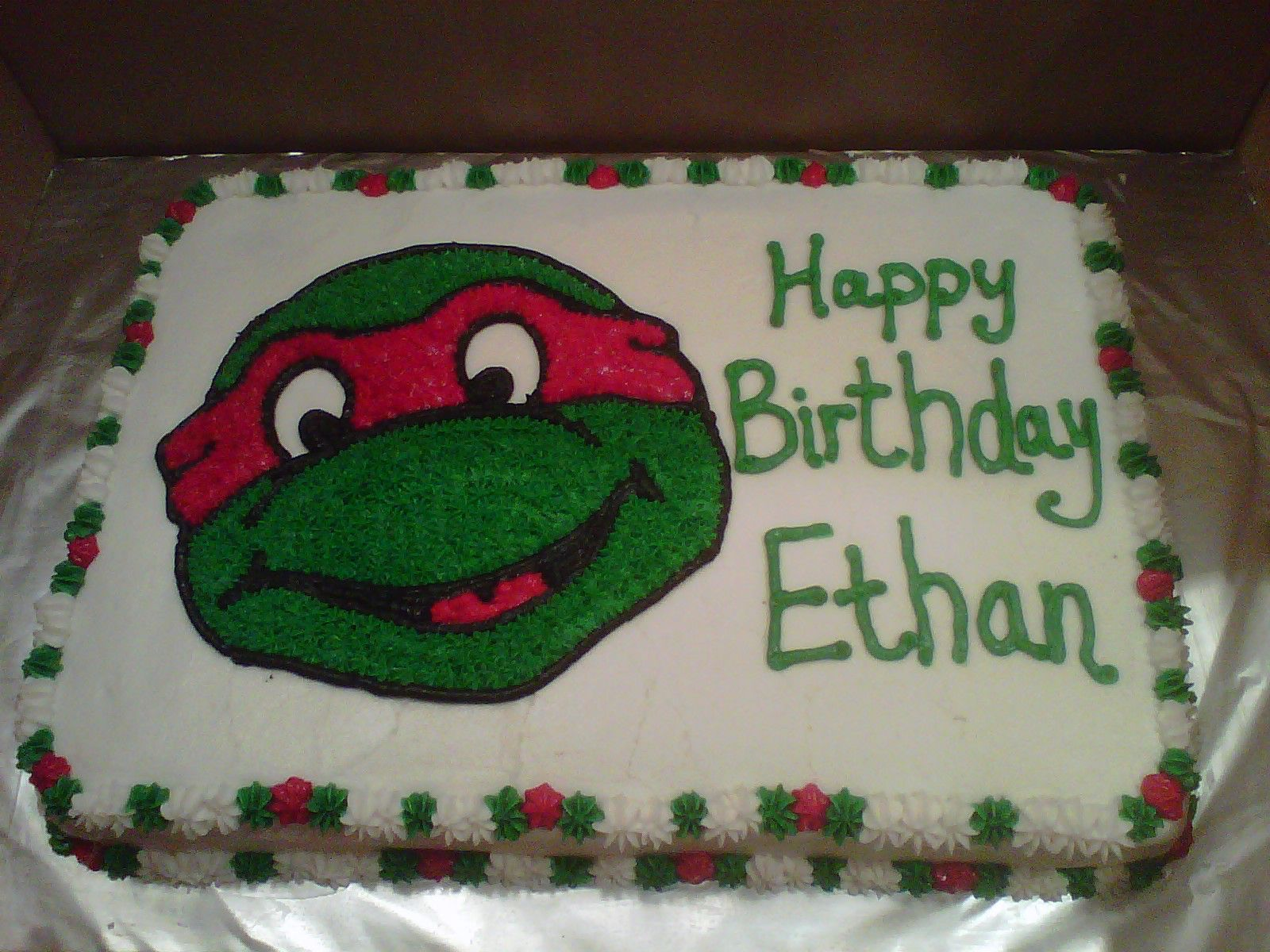 Ninja turtle sheet cake | Cakes I have made | Pinterest ...