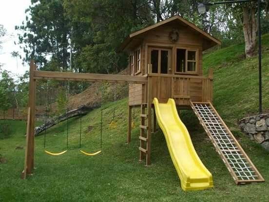 Casa de madera para ni os kids pinterest casa de for Casas de madera ninos baratas