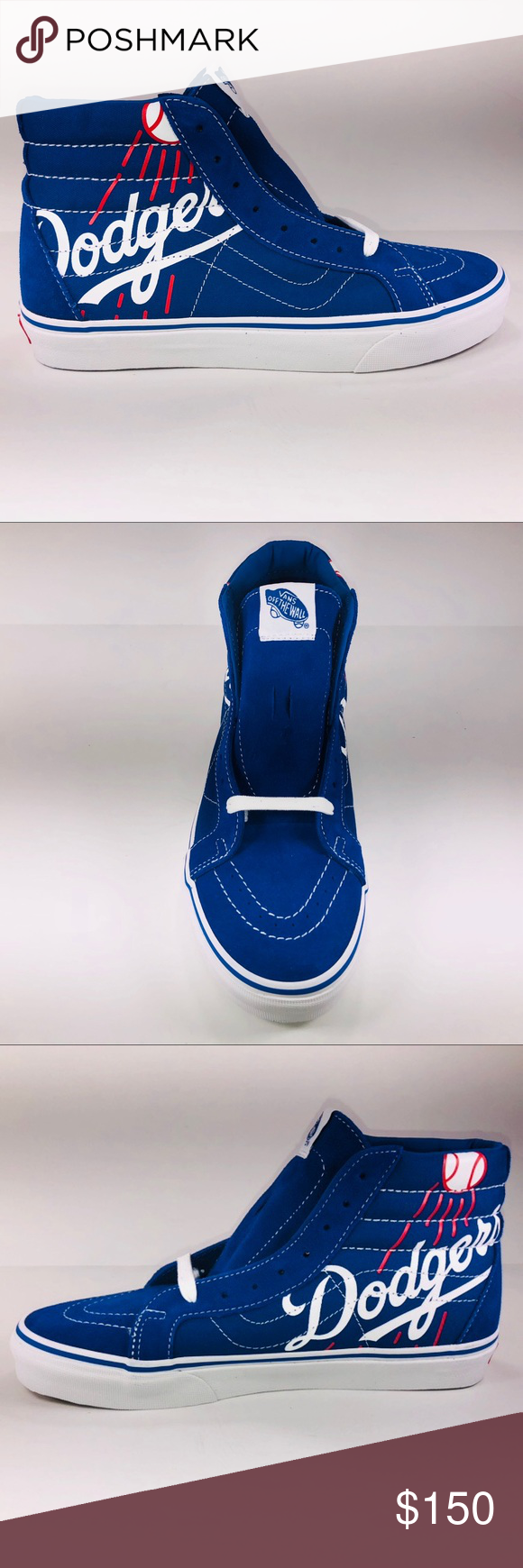 18aa848dbe VANS SK8 HI MLB LA Dodgers Classic Blue Sneakers New With Box See Pictures  For Details