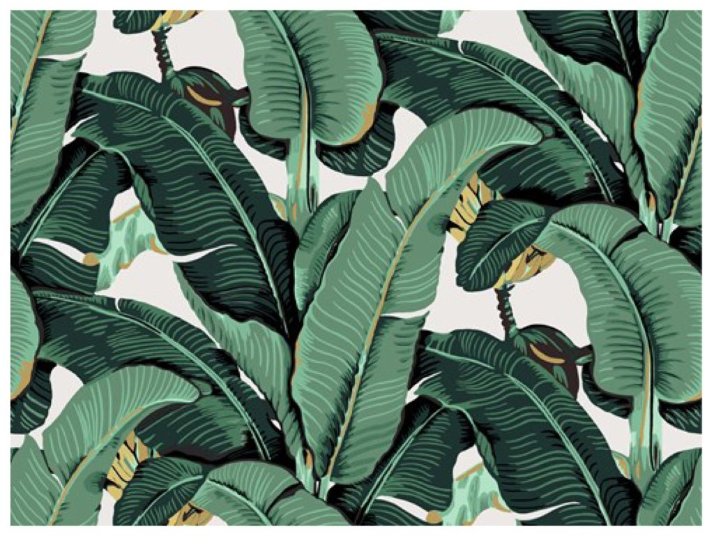 Made by Collage Beverly hills hotel, Leaf wallpaper
