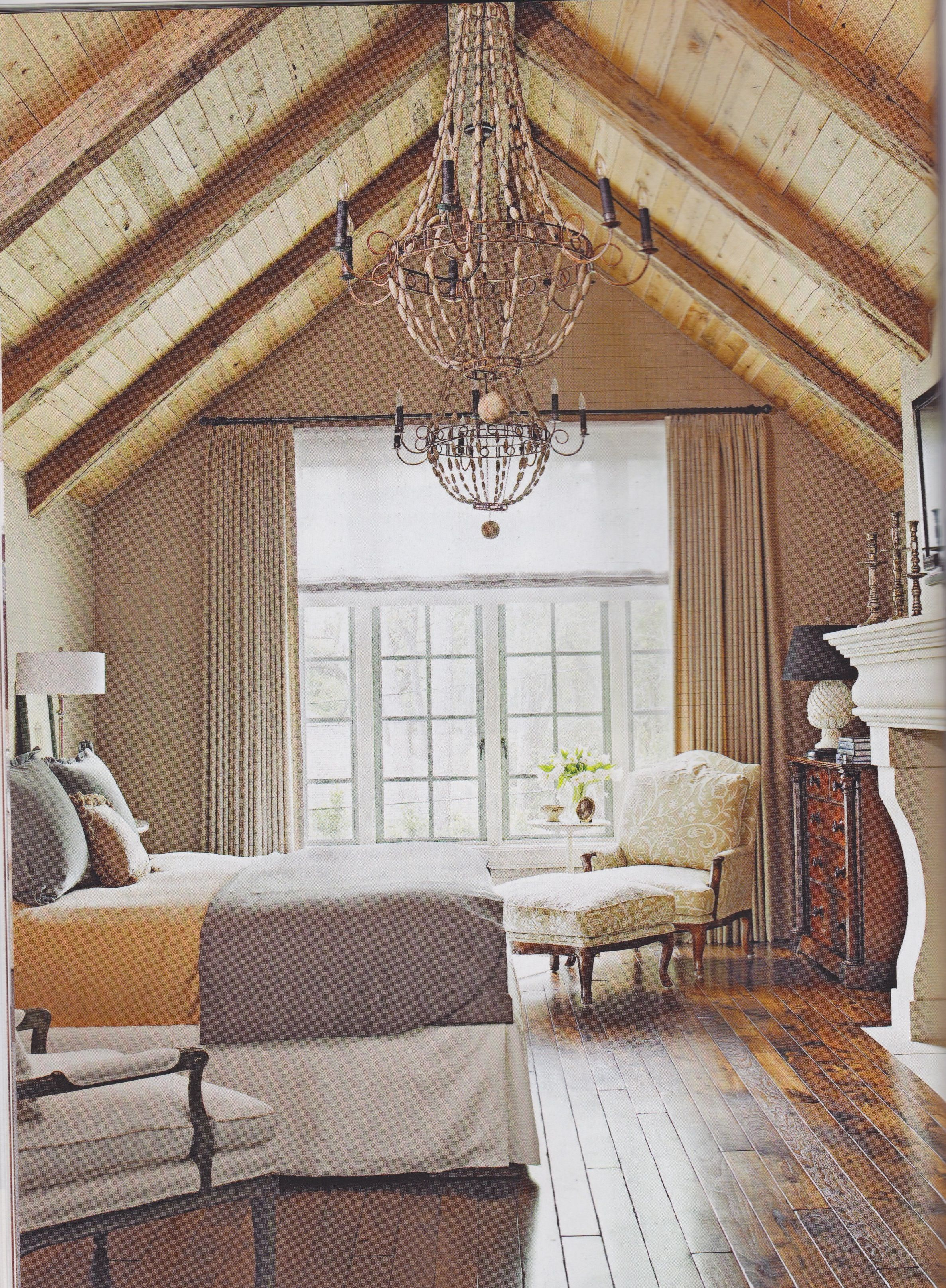 chambre des ma tres avec foyer et plafond cath drale chambre pinterest plafond plafonds. Black Bedroom Furniture Sets. Home Design Ideas