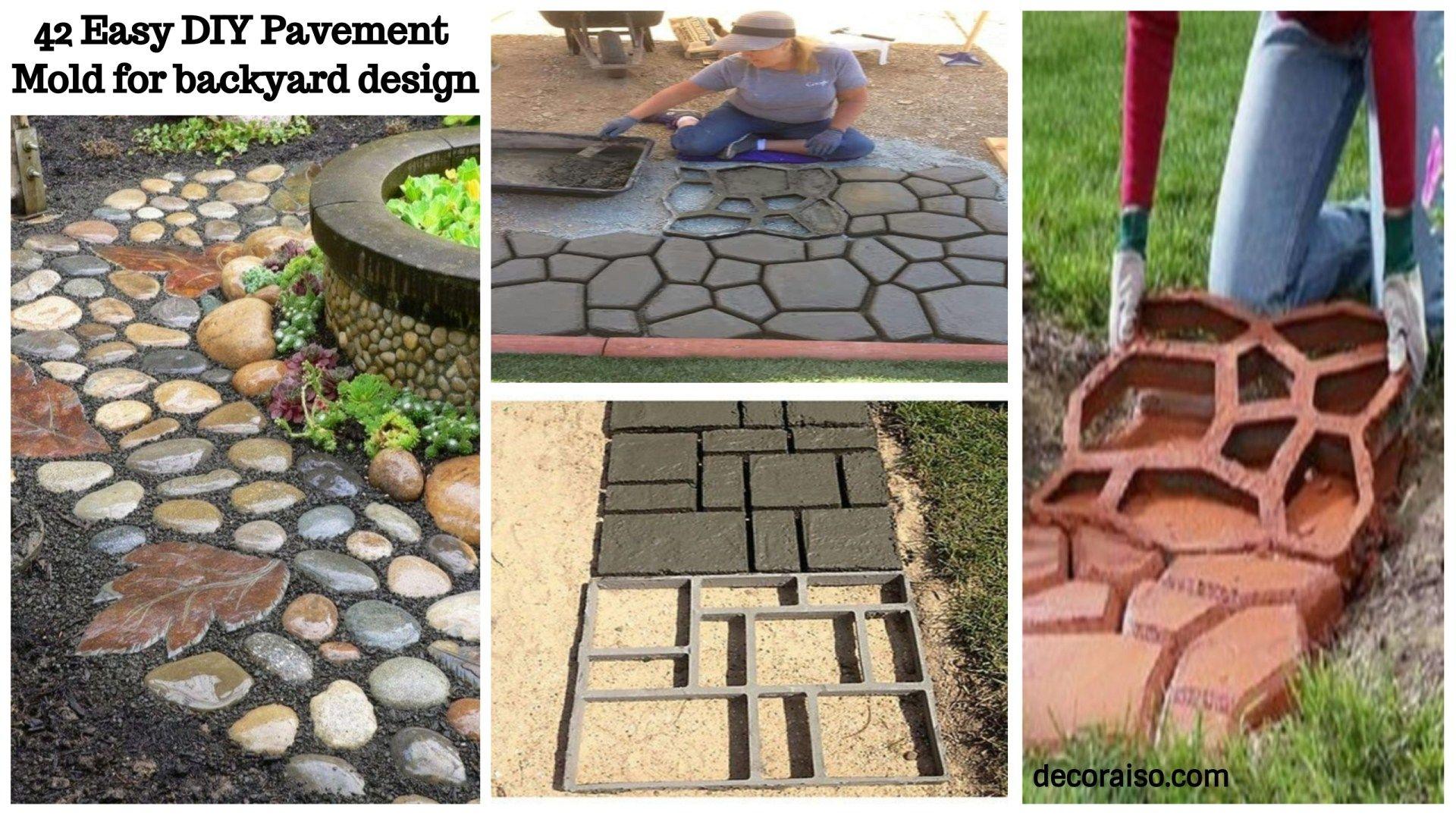 42 easy diy pavement molds for backyard design backyard