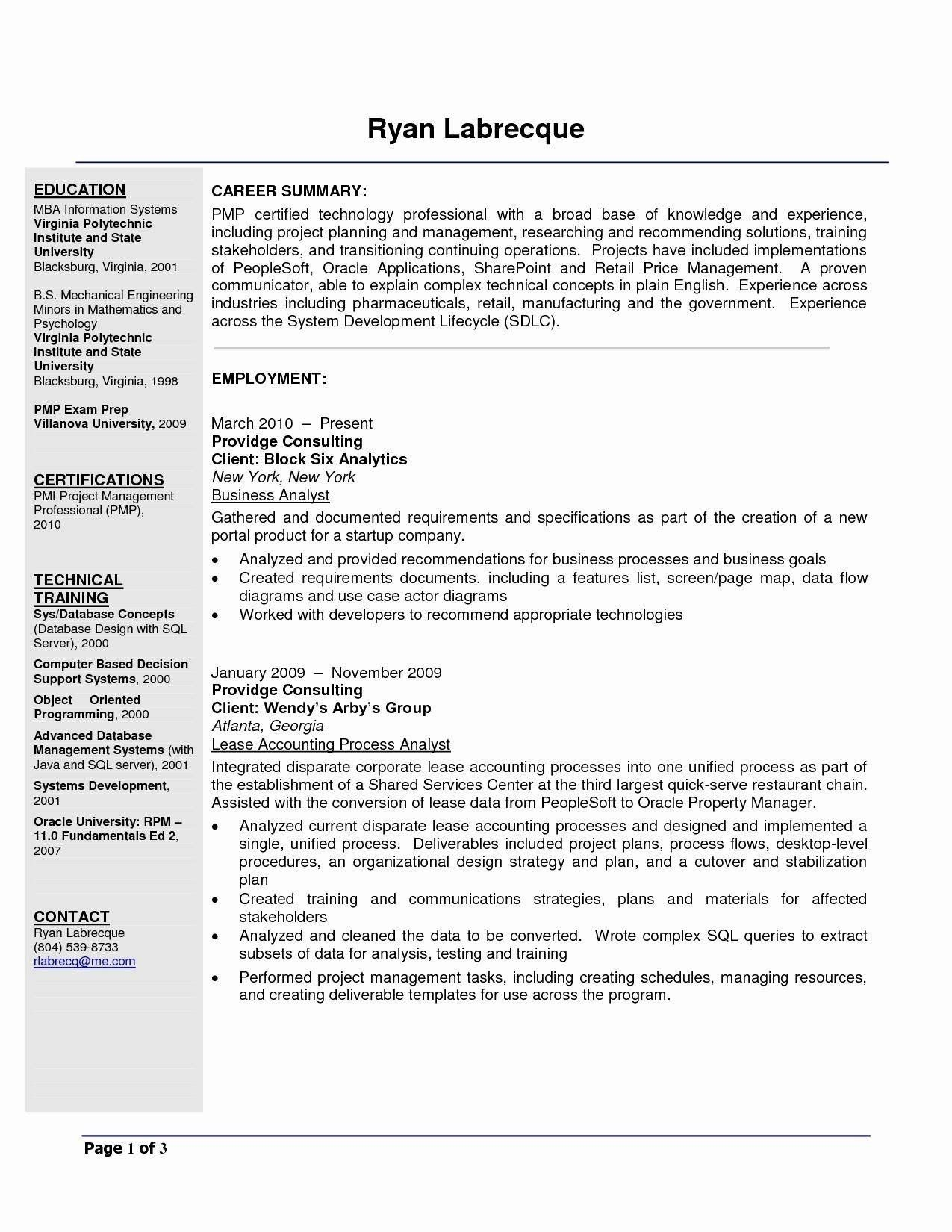 Junior Business Analyst Resume Lovely Analyst Resume Sample Free