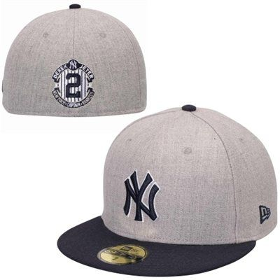 Derek Jeter New York Yankees New Era Signature 59fifty Fitted Hat Gray Navy Blue New York Yankees Yankees Gear Yankees Hat