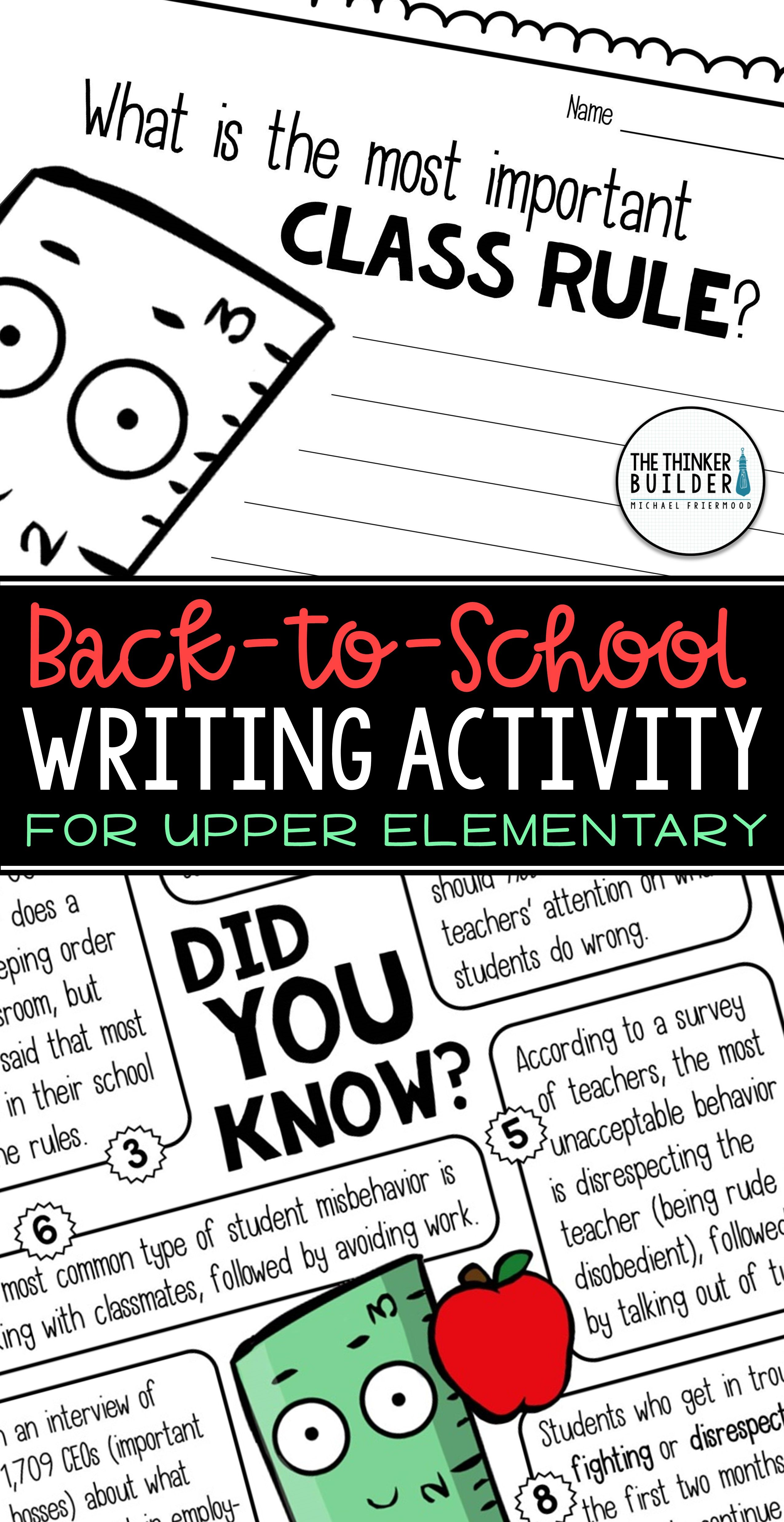 Fact Based Opinion Writing For Back To School