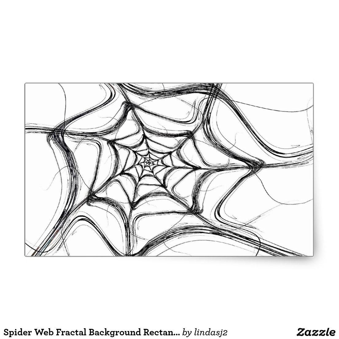 Spider Web Fractal Background Rectangle Sticker