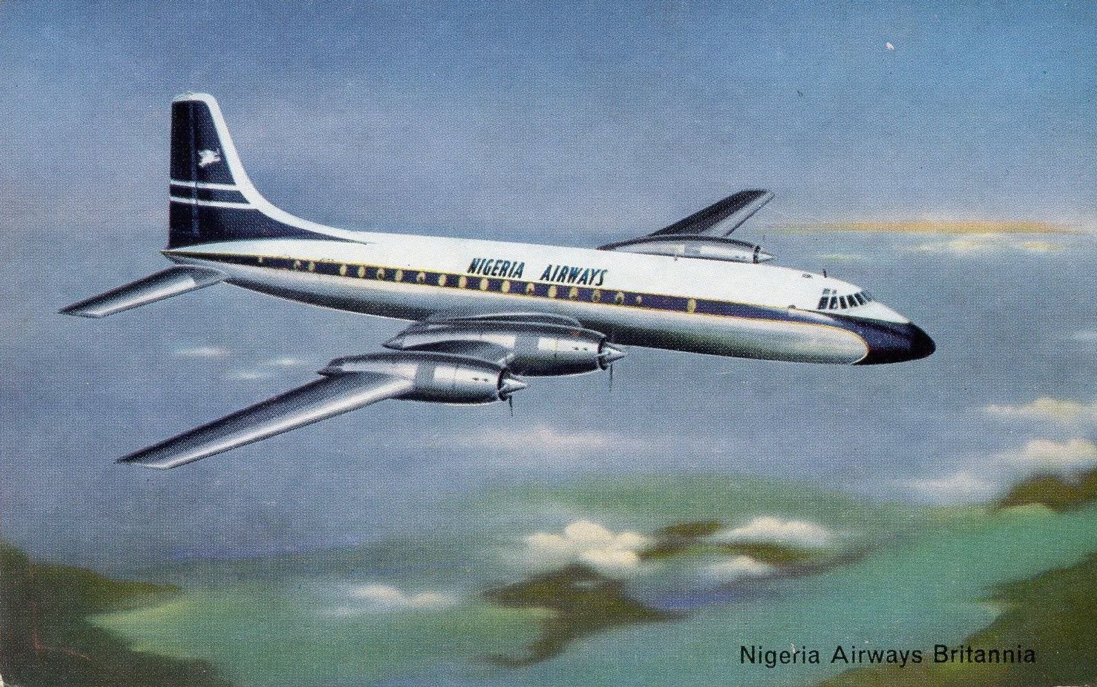 Nigeria Airways Britannia Airline issue postcard