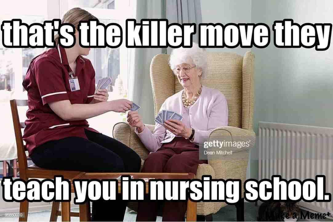 Top 10 Nurses Playing Cards Memes Nurse Humor Medical School