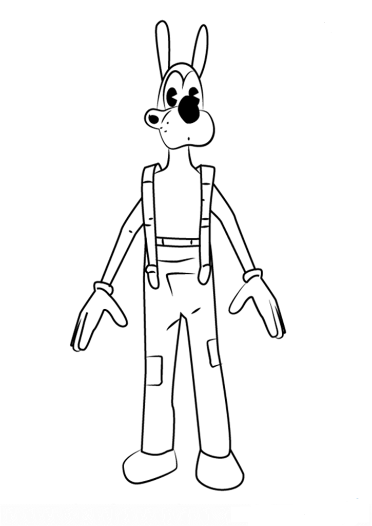 Bendy And Boris Coloring Pages