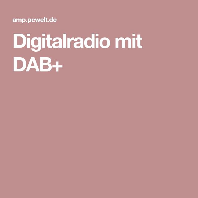 Digitalradio mit DAB+ | Digitales radio, Radios, Arduino ...