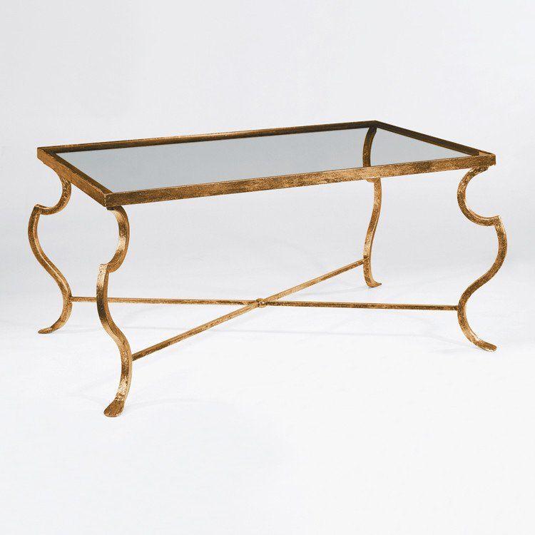 Italian Modern Gilt Iron Coffee Table Coffee Table Gold Coffee