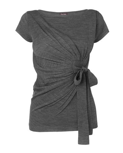 Women's Grey MarlMegan Pleated Detail Jumper