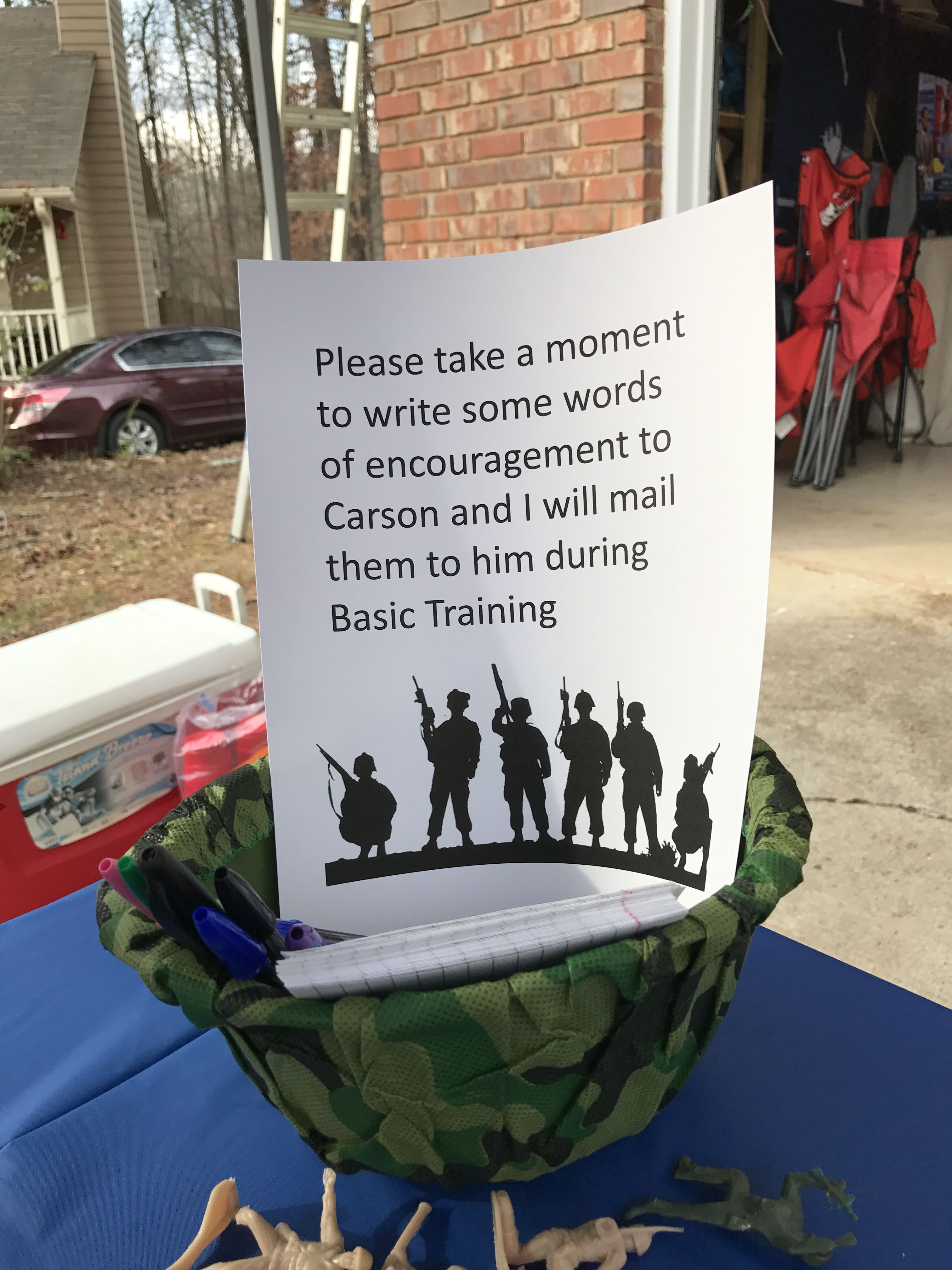 Image result for ideas to do at an army going away party